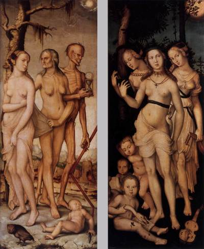 Three Ages of Man and Three Graces, by Hans Baldung